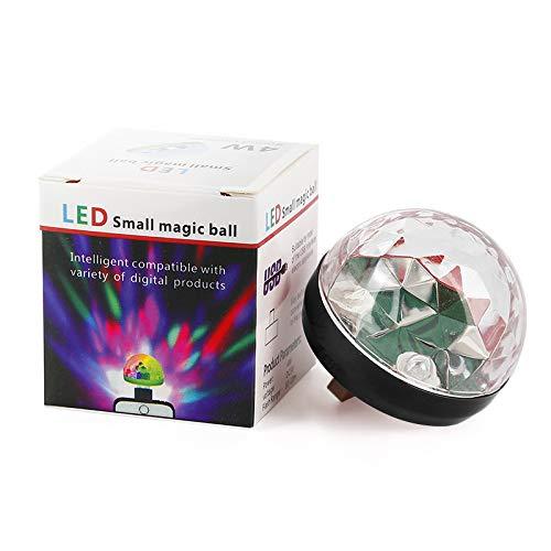 discokugel licht, mini usb rgb led disco bühnenbeleuchtung ball dj kristall magisches licht, tragbare mini discokugel lampendekoration für zuhause und party