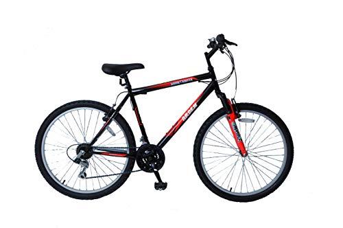 Arden Mountaineer 26' Wheel Front Suspension 19' Frame 21 Speed Mens Mountain Bike Black/Red