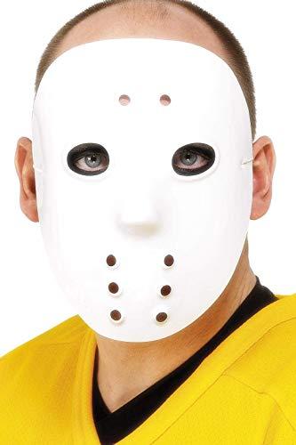 Smiffys Unisex Hockey Maske, One Size, Weiß, 1874