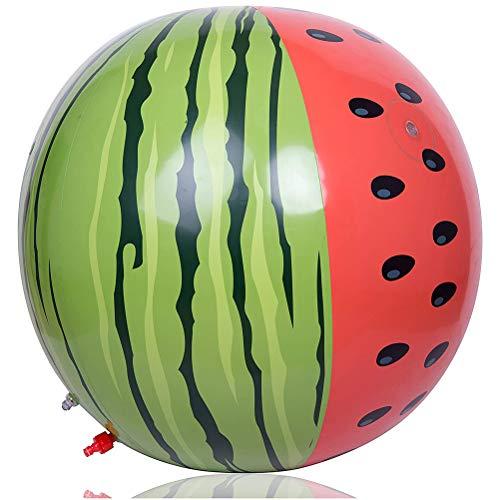 MIFASA Beach Ball PVC Wassermelone Aufblasbares Sprinklerspielzeug, für Kinder Jumbo Sprinkler Wasserspielspielzeug