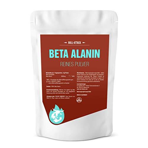 Beta Alanin Pulver - 500g reines, hochwertiges Pulver - Steigert Carnosin-Produktion, Kraft + Ausdauer - Für den Muskelaufbau in Premium Qualität
