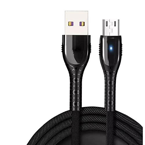 Cable de teléfono móvil USB Cable de carga Cargador de teléfono rápido Cargador rápido Compatible con Android Black Product Accesorios