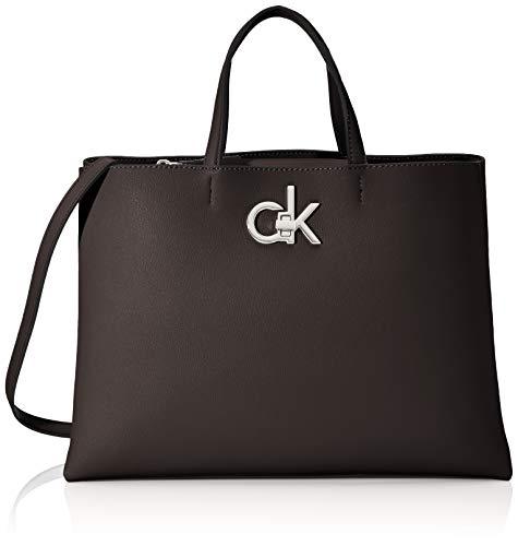 Calvin Klein Damen RE-Lock Tote MD Tote Schwarz (Black)