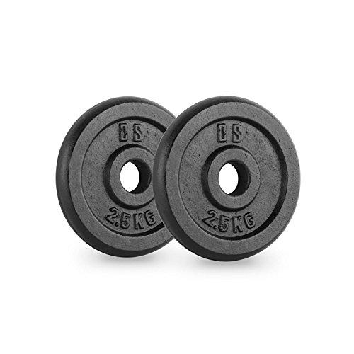 Capital Sports IPB 2.5 Paire de disques pour haltère Musculation 30mm 2,5 kg
