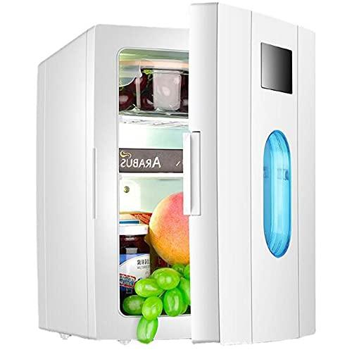 10L Mini Refrigerador, Refrigerador De Una Sola Puerta Doméstica Pequeña para El Dormitorio De Un Solo Estudiante, Doble Uso para Automóvil, Automóvil Y Hogar,Blanco,10L