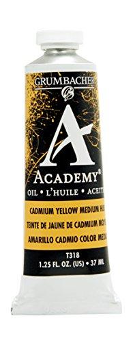 Grumbacher Academy Oil Paint, 37 ml/1.25 oz, Cadmium Yellow Medium Hue