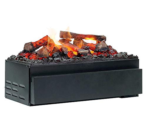 FABER Juneau Indoor Log Insert Fireplace Electric Black – Kamin (570 mm, 260 mm, 340 mm, 15 kg, 680 mm, 380 mm)