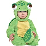 Party City Turtle Crawler Halloween Costume for Babies, 12-24 Months, Includes Jumpsuit, Shell, Hat, Booties
