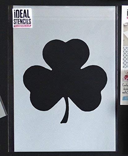 Kleeblatt Schablone | st Patricks Tag Dekor & Basteln Schablone | Farbe Wände Stoffe & Möbel - semi-transparent Schablone, 25X25CM