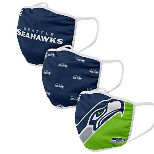 Seattle Seahawks Gesichtsbedeckung, 3 Stück