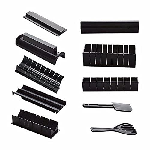 EgBert DIY 10 in 1 Sushi Maker Kit 10Pcs Riso Rotolo Stampo Cucina Chef Set Stampo Rullo Cutter Sushi Making Tools