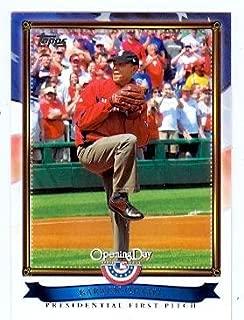 Barack Obama baseball card (President of the United States) 2011 Topps #PFP-10
