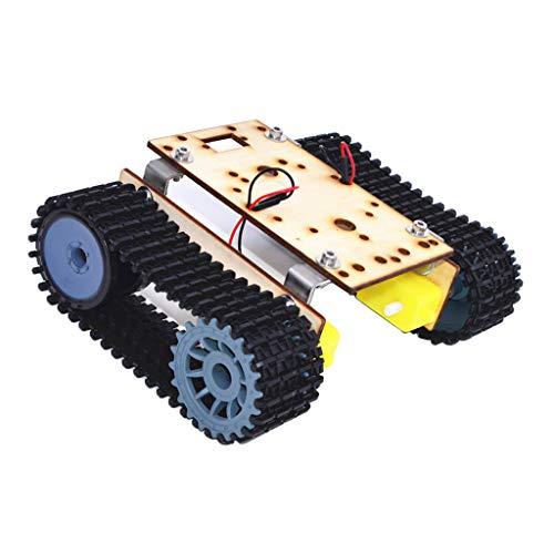 SM SunniMix Juguete Robótico de Los Niños del Robot del Coche de DIY del Chasis del Coche de DIY de La Aleación con El Sistema del Motor TT