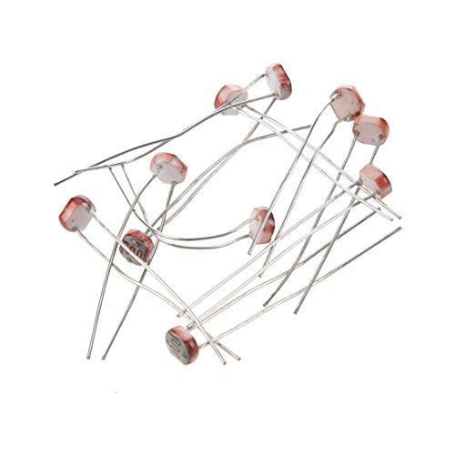WOVELOT 10 pcs la Lumiere Depend de la Resistance de la photoresistance LDR GL5528
