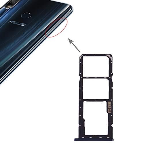 un known Reemplazo Herramientas de experimentos de Prueba Bandeja de Tarjeta SIM + Bandeja de Tarjeta SIM + Bandeja de Tarjeta Micro SD for Accesorio ASUS ZenFone MAX Pro (M2) ZB631KL (Color : Blue)