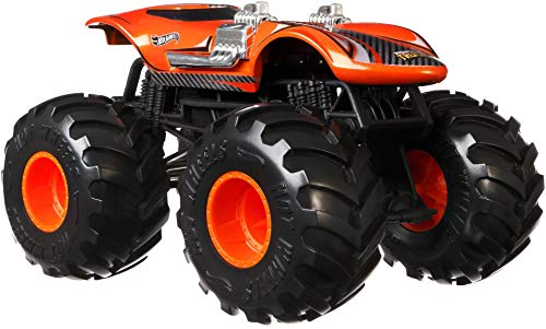 Hot Wheels Monster Trucks Twin Mill die-cast 1:24 Scale Vehicle with Giant Wheels for Kids Age 3 to 8 Years Old Great Gift Toy Trucks Large Scales