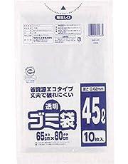 ワタナベ 透明ゴミ袋(再生原料タイプ)45L U45