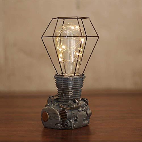 Tafellamp in retro stijl industriële metalen vintage tafellamp in een kleine kooi mini ijzeren lampenkap licht voor leeslampen bord kantoor van het huis E27