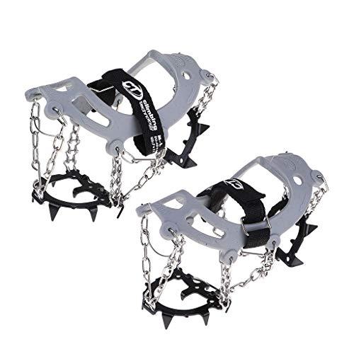 Baoblaze Crampons Simples à 12 Dents Crampons Antidérapants pour Chaussures d'escalade pour Chaussures à Crampons Équipement d'alpinisme en Plein Air
