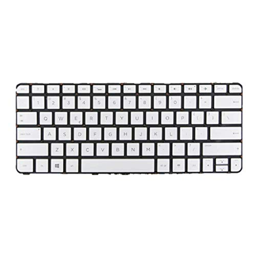 Laptop White US English Keyboard with Backlit for HP Spectre X360 13-4000 13-4100 13T-4000 13T-4100 4103DX 4001 Replacement Keyboard Georgia
