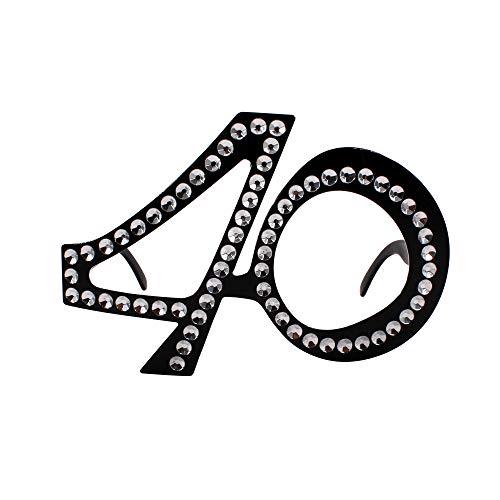 Carnavalife Gafas para Compleaños, Aniversario y Fiestas (Pack 1 Pack 6 Pack 12) (40 años, 1)