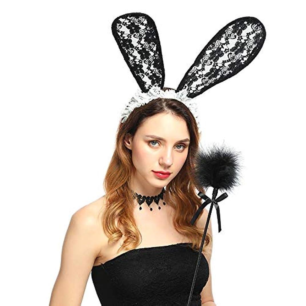 理想的には加速度年金バラエティ動物ヘッドバックルパーティーハロウィーンヘッドバンドセクシーなウールのウサギの耳ヘッドバンド写真写真