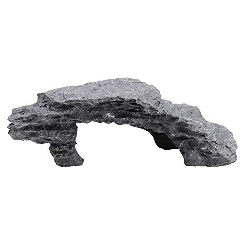 Reptil Que esconde la Cueva Acuario Que esconde Las Rocas de la simulación Tortuga Reptil Que Toma el Sol Ocultar Hábitat Decoración Ornamento Resina Reptiles Escondites