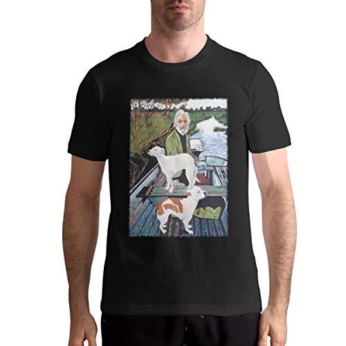 AngelaHenderson Men's Cool Goodfellas Painting Lightweight T-Shirts Black 6XL