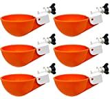 Backyard Barnyard 6 Pack Automatic Poultry Cup Waterer Drinker for Chicken Ducks Quail (Hardware Included)