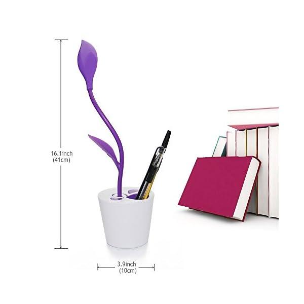 Schreibtischlampe-Sapling-Stifthalter-Dimmable-LED-Table-Lamp-Children-Night-Lighting-Flexible-Leselampe-Lila