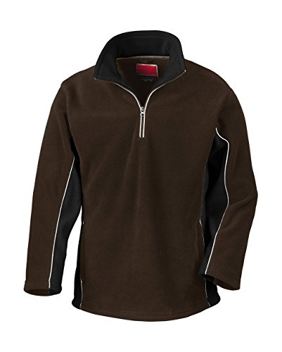 Tech3 Fleece-Sportsweatshirt mit 1/4 Reißverschluss XL,Coffee/Black