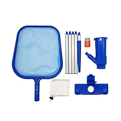 Cowslip Juego de red para limpieza de piscina con barra telescópica ajustable y red de limpieza para piscina, red para spas, piscinas, piscinas y piscinas