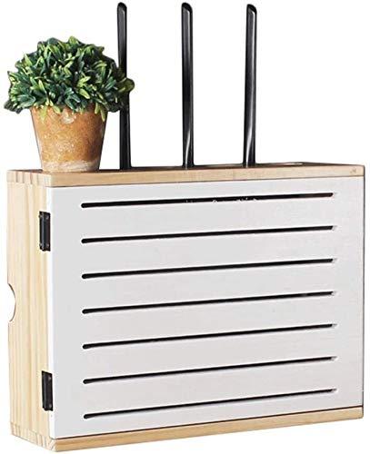 WiFi Madera sólida Plataforma Router inalámbrico - viviendo decodificador Sala Multimedia Blindaje Caja Mueble de televisión Caja de Almacenamiento en Rack de Alambre de Plug-in-Box Pared (Tamaño: 50