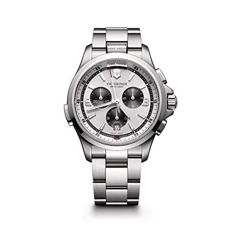 Victorinox Swiss Army Reloj Unisex de Analogico con Correa en Chapado en Acero Inoxidable 241728