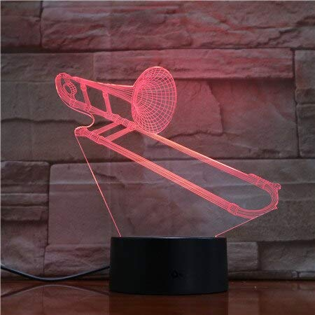 Music Note 3D Table Lamp Night Lightara Hologram Atmosphere Child Table Lamp Bedroom DecorLed Table Lamp Night Light