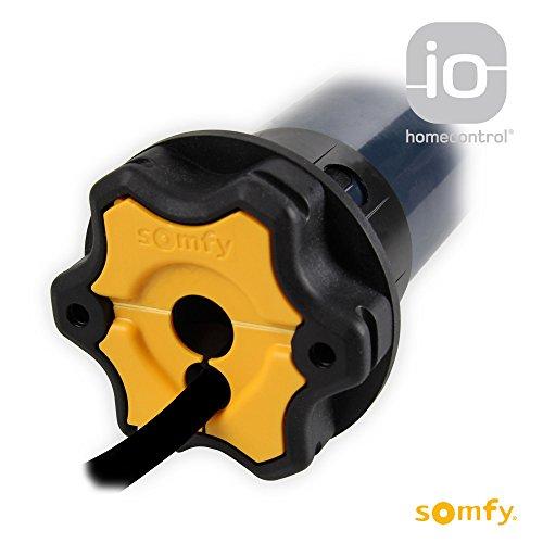 Somfy Elektronischer Funk Rolladenmotor S&SO RS100 io 10/17 | 10 Nm inkl. drei Hochschiebesicherungen (getestet von DIWARO), Motorlager. Anschlusskabel und SW 60 Adapter / Mitnehmer.