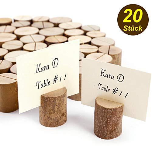 Post Karte Kartenhalter Platzkartenhalter Tischkarten Hochzeit von Holz 20 Stk