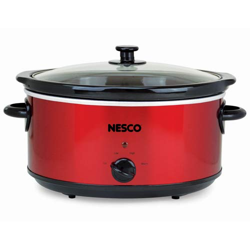 Nesco SC-6-22 Slow Cooker, 6 Qt, Red