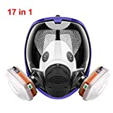 17in1 full face Protective Respirator Rubber 360° Full Seal Protection (Respirator +Canister) Widely Used in Organic Gas
