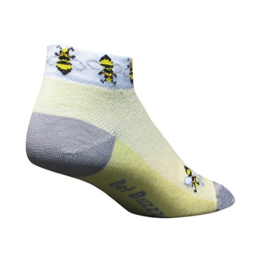 Stretch-To-Fit Sockguy Chaussettes Famme Noir Taille S/M