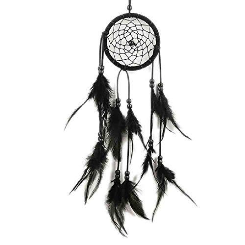 WAXY dromenvanger-decoratie om op te hangen met wit/zwarte veren hangdecoratie dreamcatcher net India stijl hourse decoratie