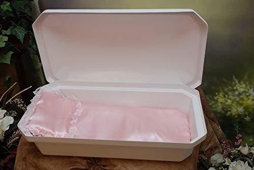 Newnak's Pet Caskets-Pet Casket White/Pink (3 Sizes) Standard (Medium)