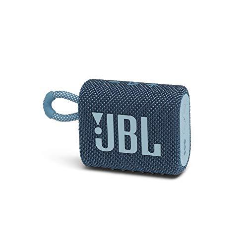 JBL GO 3 Bluetoothスピーカー USB C充電 IP67防塵防水 パッシブラジエーター搭載 ポータブル 2020年モデル ブルー JBLGO3BLU 国内正規品 メーカー 付き