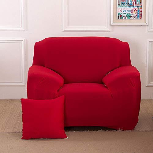 B/H 3 Plaza Funda de Sofá Elástico Cubierta,Funda de sofá de Color sólido, Funda de sofá elástica Antideslizante-T_90-140cm,Tejido Poliéster Cubre Sofa