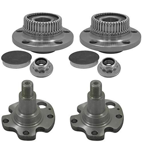 2x Radlager ABS-Ring 2x Achszapfen Hinterachse links rechts Lochkreis: 5x100