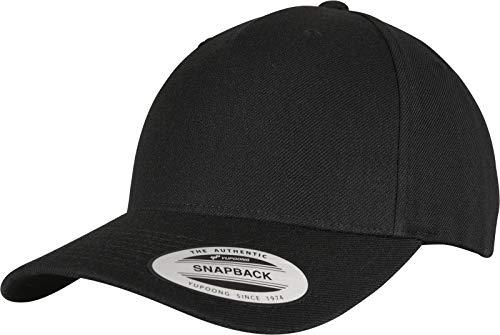 Flexfit Unisex YP Classics 5-Panel Premium Curved Visor Snapback Cap Baseballkappe, Black, one Size