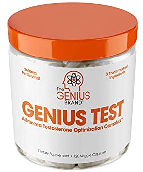 Genius Test - The Smart Testosterone Booster For Men | Natural Energy Supplement Brain & Libido Support Fat Loss | Muscle Builder with Ksm-66 Ashwagandha Shilajit and Tongkat Ali 120 Veggie Pills