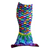 Sun Tails Toddler Mermaid Tail (Hawaiian Rainbow, S - Child 4T/5T, not for use with Monofin)