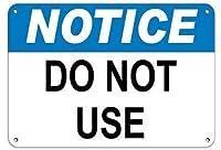 ヴィンテージティンサイン金属プレートプラーク通知は危険標識の看板を使用しないでください、装飾室キッチン金属クラブ楽しい家シックなコーヒーポスター