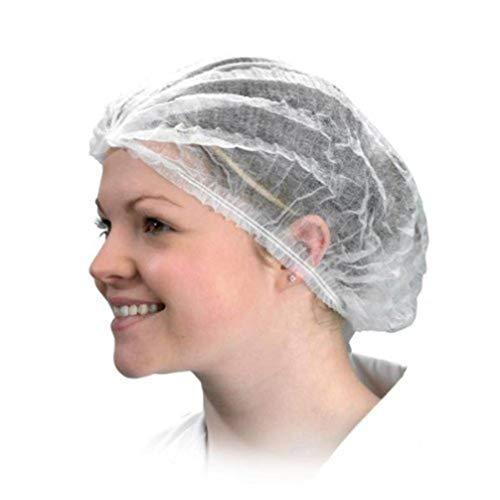 LUOEM 100 Stück Einwegkappen Vlies Bouffant Kappen Haar Kopfbedeckung Netz Unsichtbare Clip Kappen Mob Caps Haarnetze